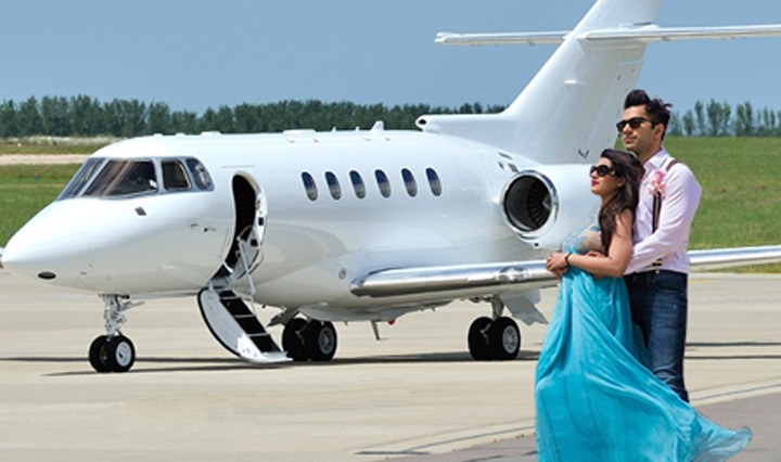 Private Jet Wedding